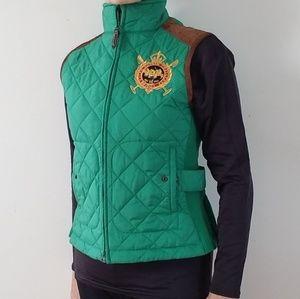 Ralph Lauren Sport Signature Quilted Green Vest